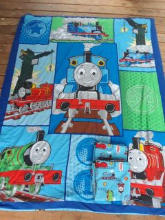 Thomas The Train Child Boy Bedding Blanket Twin Comforter With Curtains