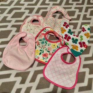 (( 6-Count. )) BabyGirl Bibs. - - - FREE with a purchase of $10 dollars or more.
