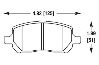 Purchase HAWK HB517F.690 - 2005 Chevy Cobalt Black Ferro-Carbon Front Brake Pads motorcycle in Chino, California, US, for US $75.79