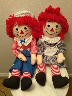 """Hasbro Raggedy Anne and Andy 25"""""""
