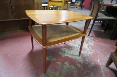 Vintage Danish Modern Teak 2 tier side table