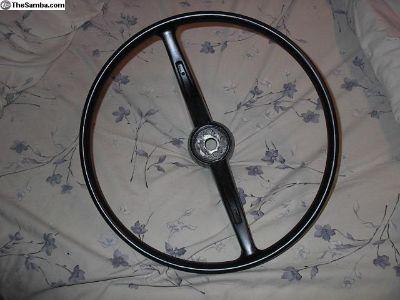 Early vw bug steering wheel restored