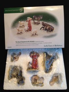 Dept 56 Little Town of Bethlehem The Good Shepherd and His Animals