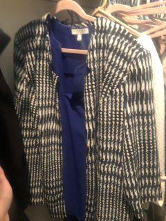 Beautiful blue blazer brand new!!! Xxl
