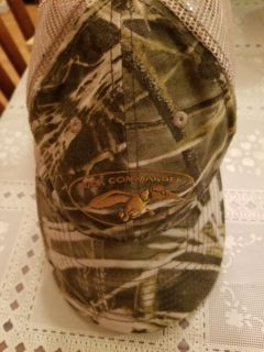 Autographed by Ms Kaye Duck Commander camo hat