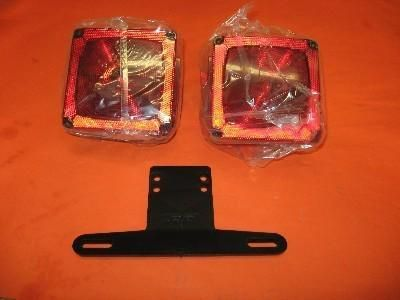 Purchase Wesbar RV Utility Trailer Lights Pair w/ License Bracket NR motorcycle in Grain Valley, Missouri, US, for US $5.99
