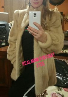 Autentic real mink fur jacket