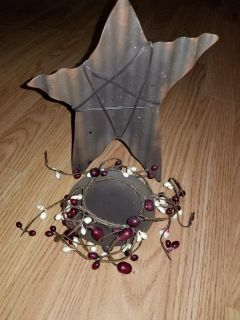 Primitive candle holder and berry ring price for both