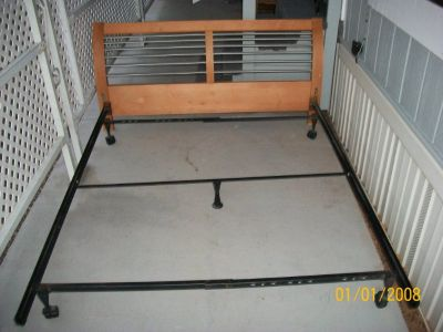 solid queen bed frame