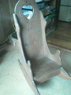 Vintage Kids wooden rocking chair