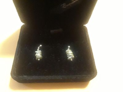 Sterling Silver and Authentic Freshwater Pearl Earrings