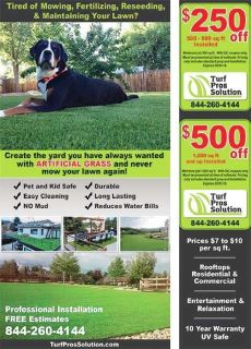 New Artificial turf with Professional Installations!