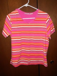 Basic Editions cotton/spandex top