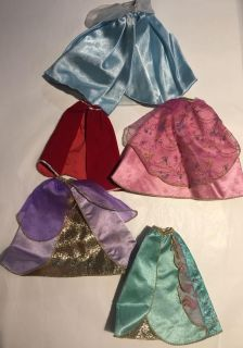 Barbie Doll Capes -skirts Set of 5