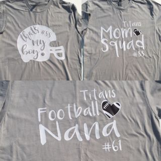 Are you ready for some football?! Custom Mom Cheering shirts