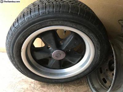 fuchs 7 J x 15 + tire original wheel 9/85 911 944