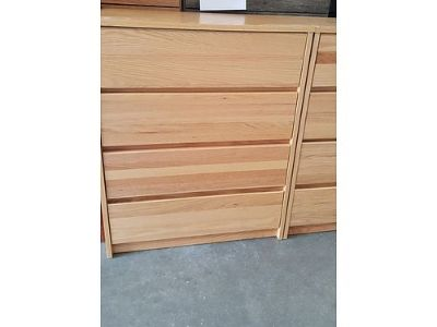 4 DRAWER NATURAL WOOD CHEST ONLY $59 ...