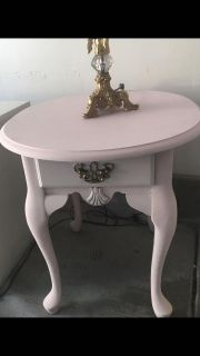 Vintage end table/night stand solid wood