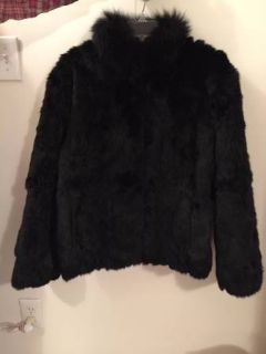 VINTAGE Mademoiselle FUR COAT 100% RABBIT Quilted JACKET/COAT - LARGE