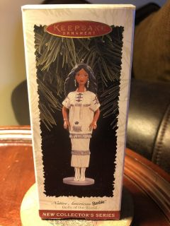 Hallmark keepsake ornament Native American Barbie dolls of the world