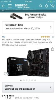 Gaming motherboard brand new