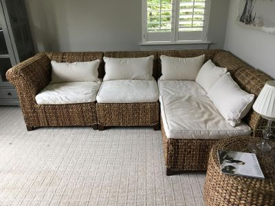 Pottery Barn Seagrass Sectional Components