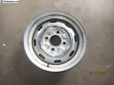 vw four lug chromed wheel J3