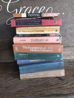Lot of vintage education and psychology books