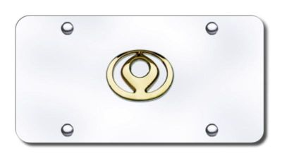 Buy Mazda Old-Logo Gold on Chrome License Plate Made in USA Genuine motorcycle in San Tan Valley, Arizona, US, for US $31.62