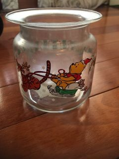 Glass Winnie the Pooh candle holder