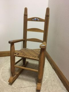 Doll Rocking Chair approx 2 tall