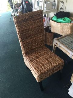 Brown Rattan Dining Chair