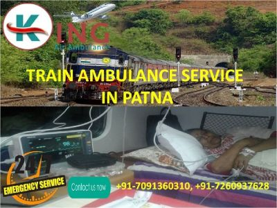 Hire Remarkable and Hi-tech Train Ambulance Service in Patna by King
