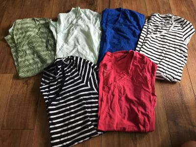 M and L Maternity tops