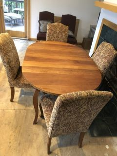 Crate and Barrel Teak dining table and 8 chairs