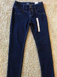 Brand new with tags SO brand high rise adjustable waist soft denim jeggings. Snap missing as seen in 2nd pic Smoke free home