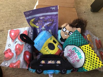 BARKBOX PREMIUM BY MAIL JUNE SHIPMENT DOG TREATS & TOYS- paid over $40 for this box!! Ck out the website