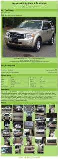$9,992, 2011 Ford Escape Xlt Awd 69k Miles 4cyl Automatic Remote Starter Air Conditioning; Power Windows