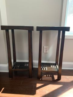 Pier One- 2 side tables. Normal wear and tear.