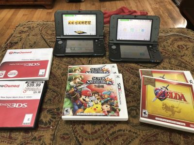 2 Nintendo 3DS xl w/ games