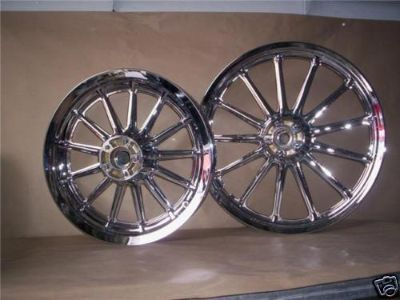Purchase Harley Dyna Sportster Softail FXR Chrome Wheels Rims motorcycle in La Mirada, California, US, for US $690.00