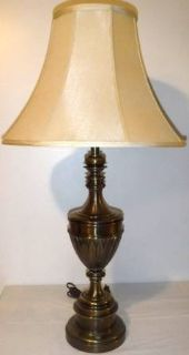 Vintage Large Brass Table Lamp w/Shade
