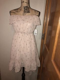 Forever 21 High-Low Blush Rose Patterned Dress-Sz M-NWT