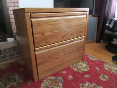 Solid oak Lateral file, Dresser or Changing Table, Reduced