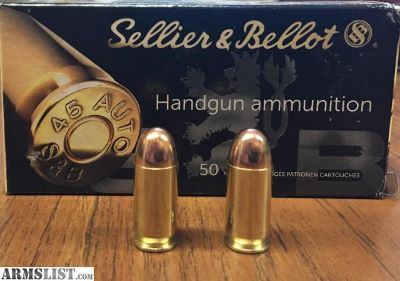 For Sale: S&B .45 ACP ammo