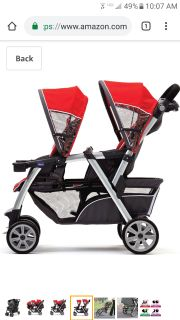 Iso chicco double stroller