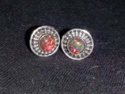 Beautiful Fire Opal Earrings 925