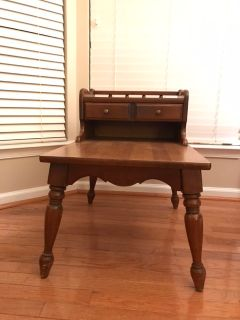 2 Antique Wood Side Tables