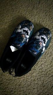 Batman Slippers With Tags