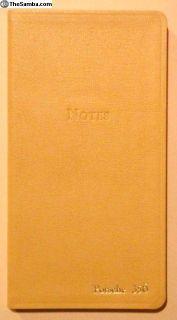 Record Book or Journal for 356 Porsche